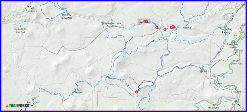 Wanoga Sno Park Trail Map