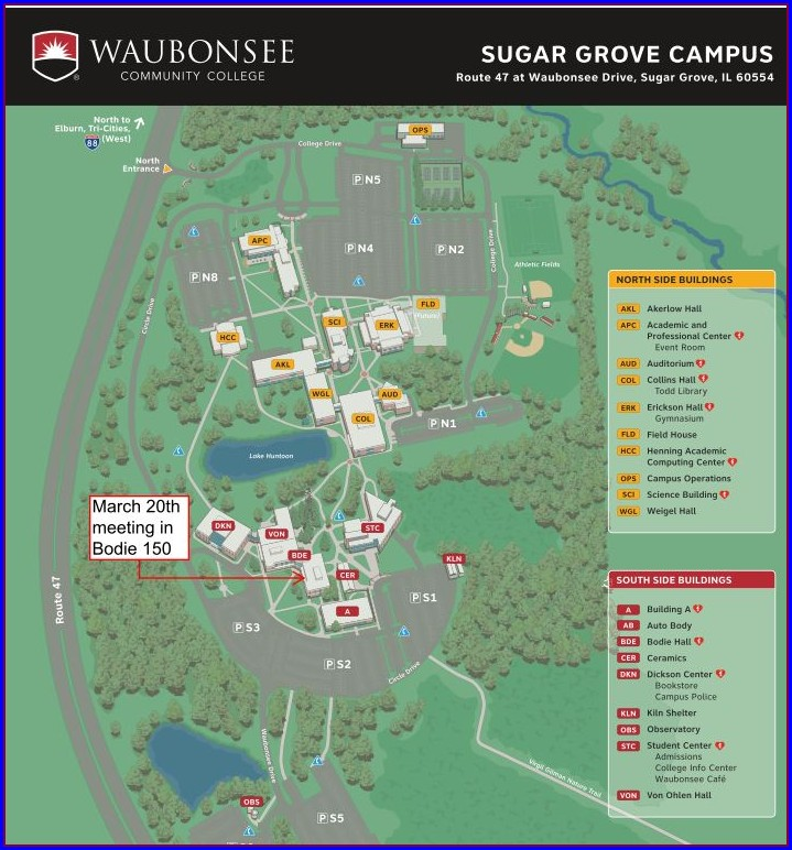 Waubonsee Sugar Grove Map