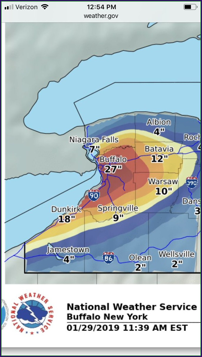 Western Ny Weather Map