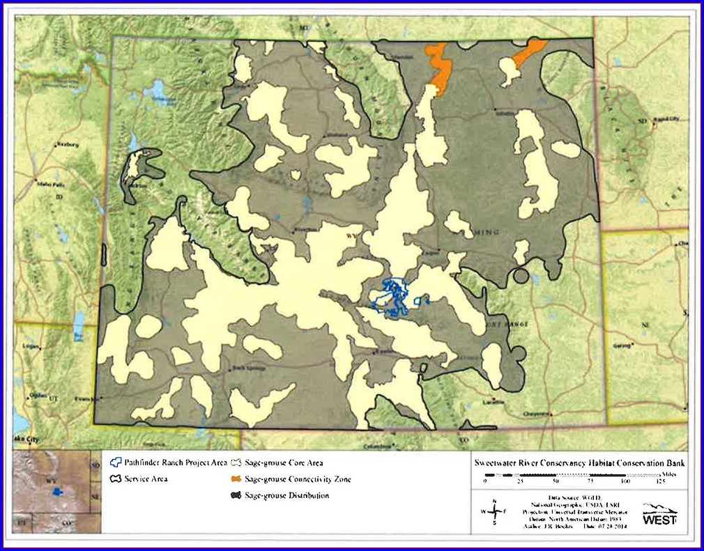 Wyoming Sage Grouse Lek Map