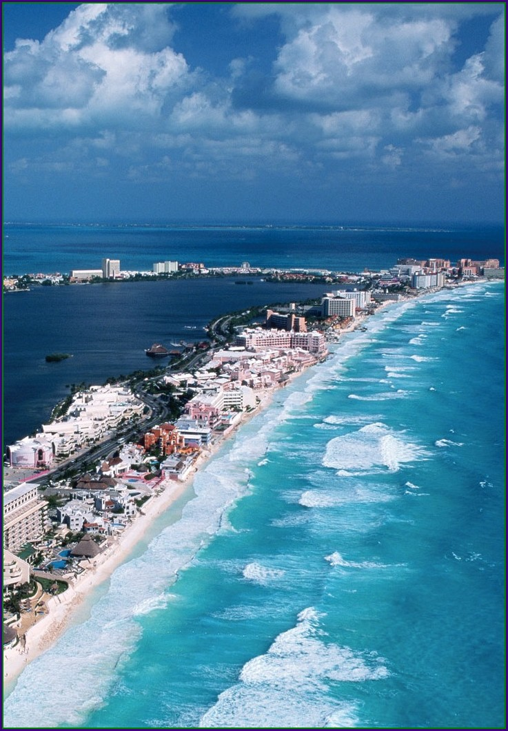 Zona Hotelera Cancun Map