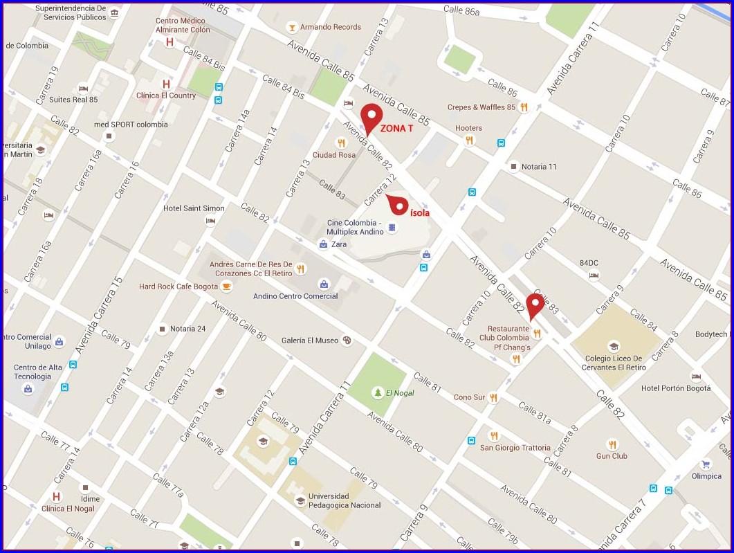 Zona Rosa Bogota Mapa