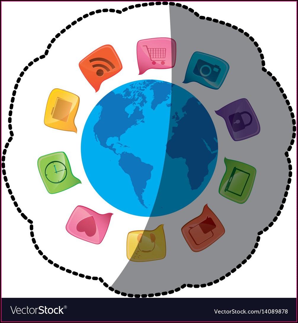 Small World Map Sticker