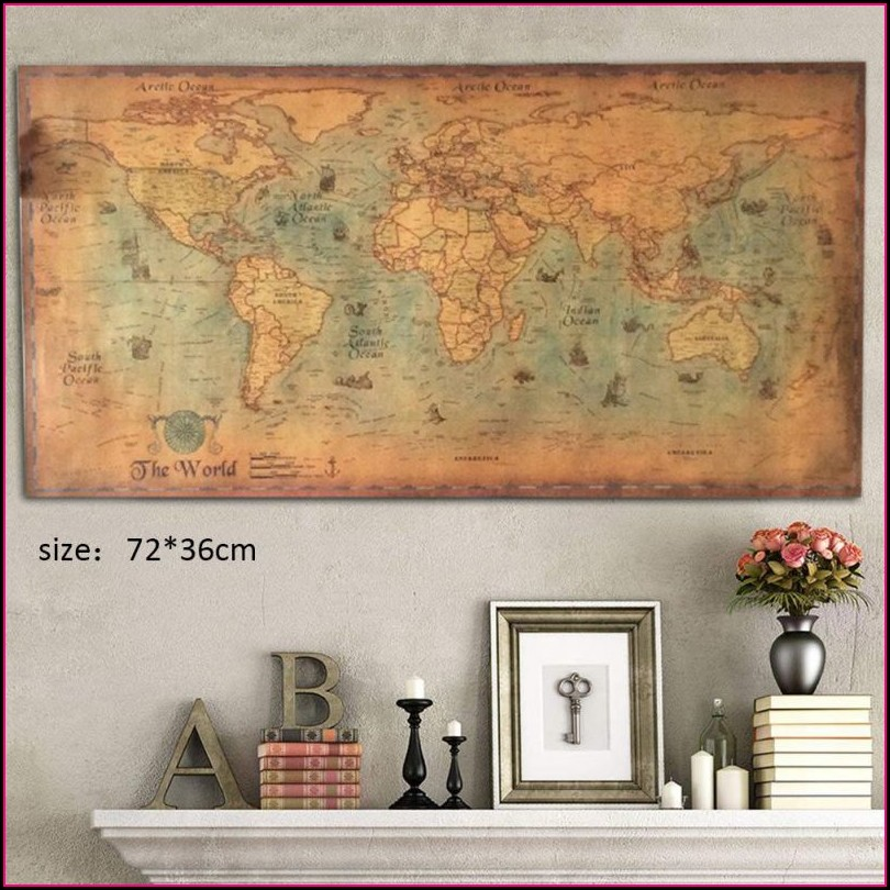 Small World Map Wall Sticker