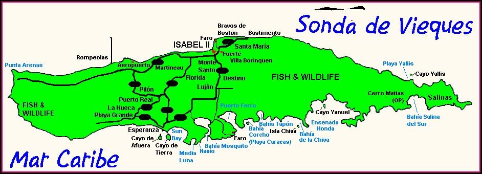 Villa Borinquen Vieques Map