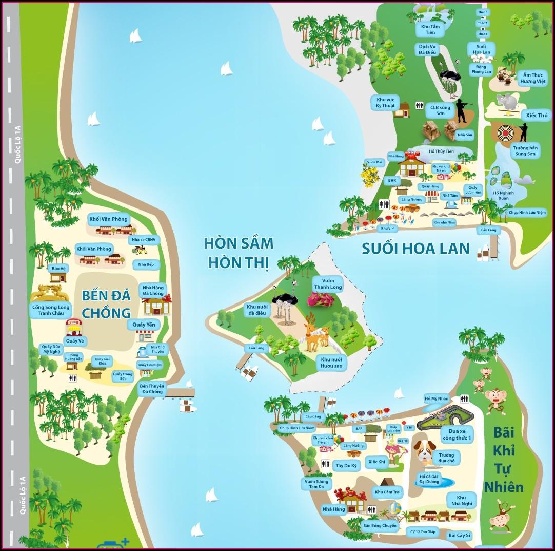 Vinpearl Nha Trang Map 2020