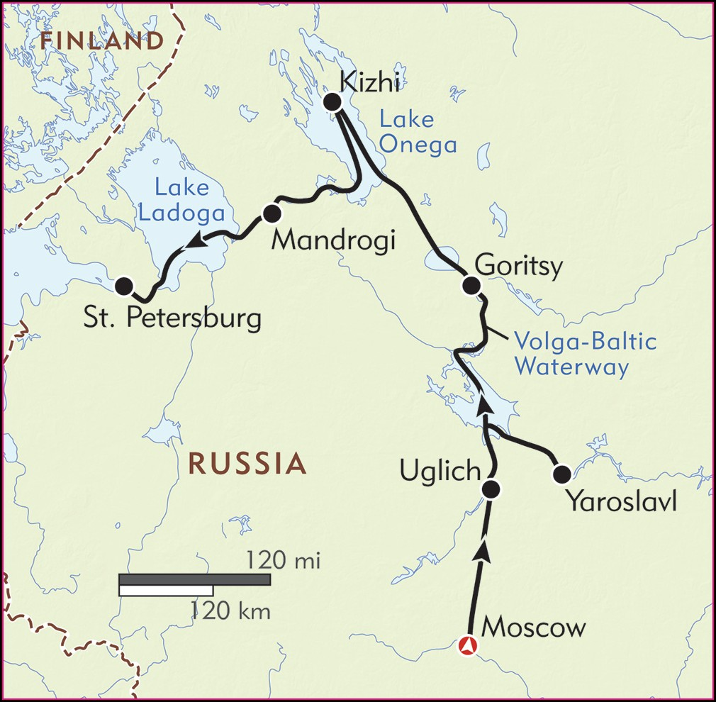 Volga River Cruise Map