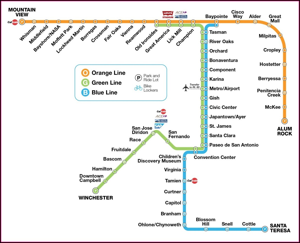 Vta Bus Routes Map