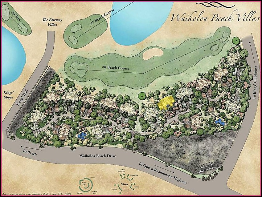 Waikoloa Beach Villas Resort Map