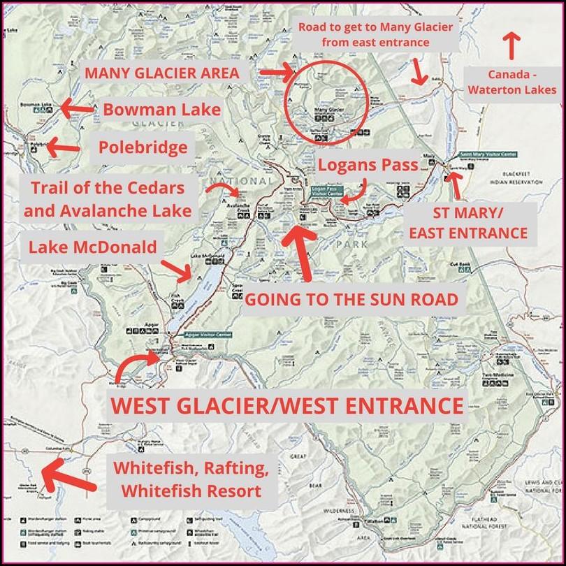 Waterton Lakes National Park Map Pdf