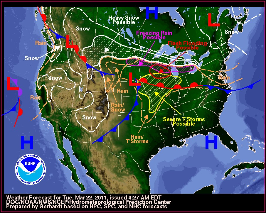 Weather Map Of The Eastern United States