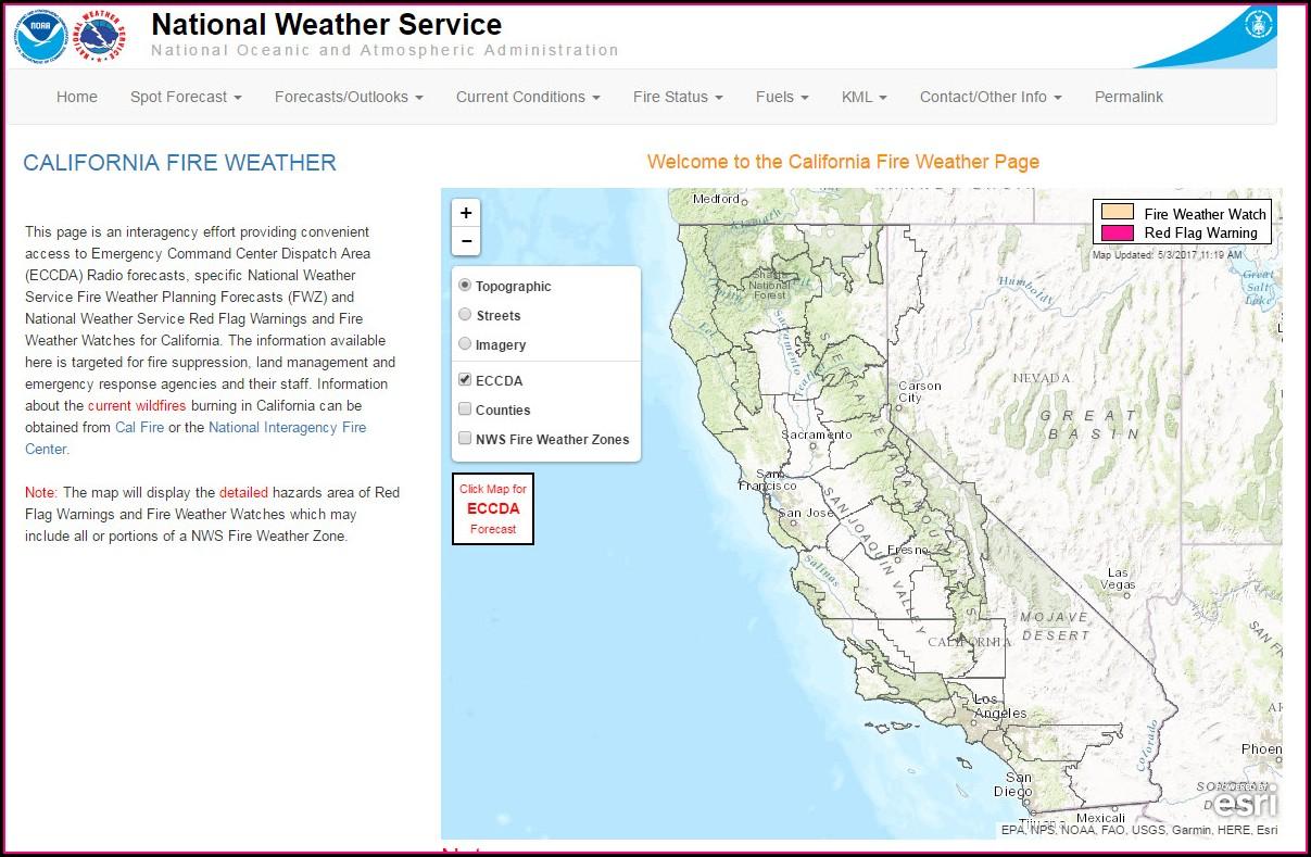 Weather Map Sacramento Area