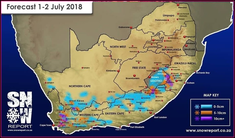Weather Map South Africa Today