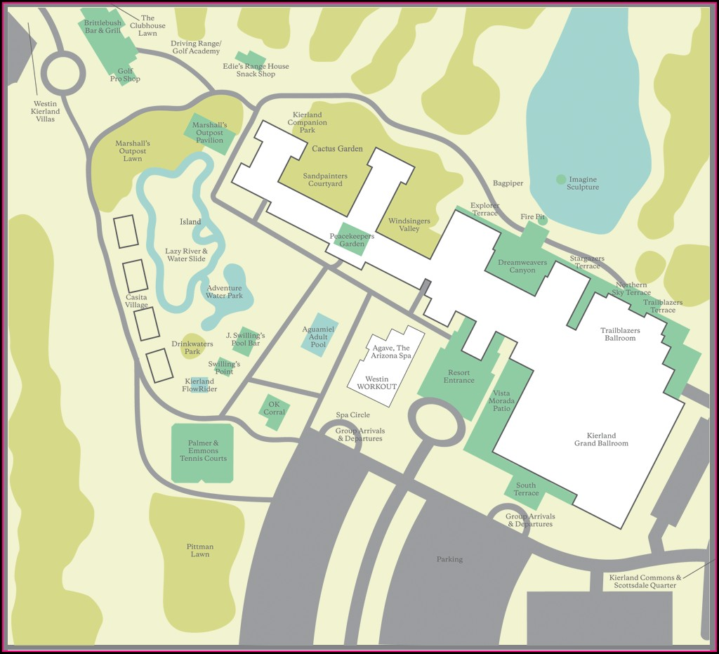 Westin Kierland Villas Resort Map
