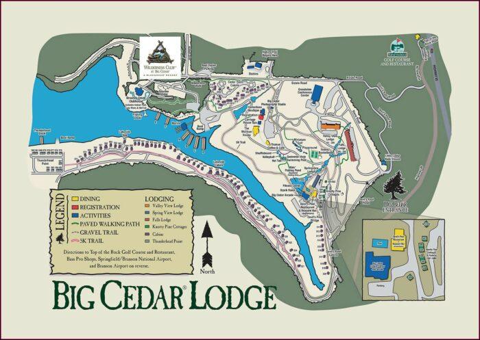 Wilderness Club At Big Cedar Map