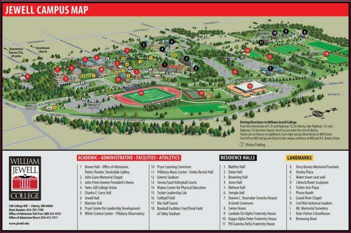 William Jewell College Campus Map