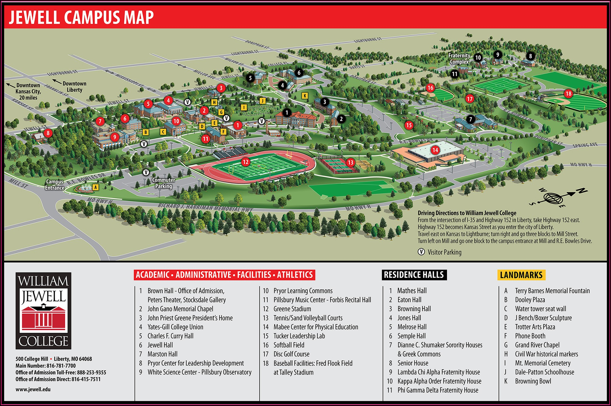 William Jewell College Campus Map