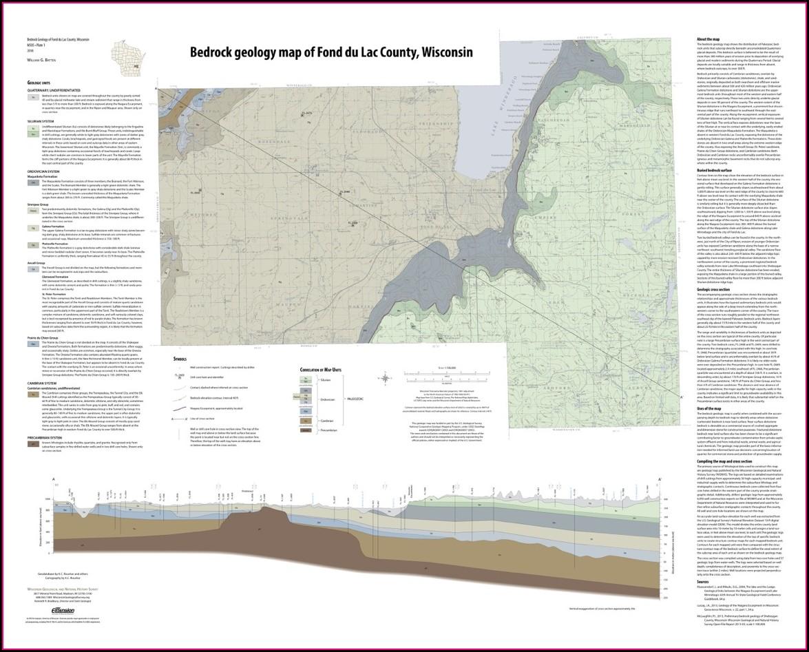 Wisconsin Bedrock Geology Map