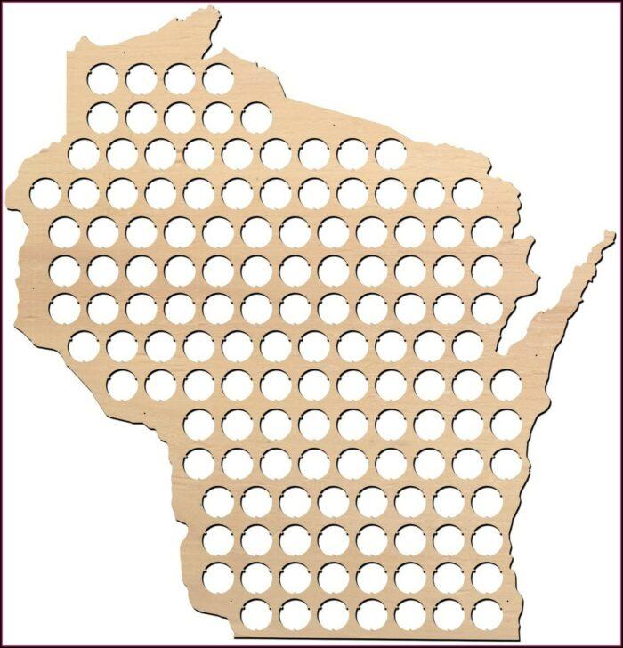 Wisconsin Beer Cap Map