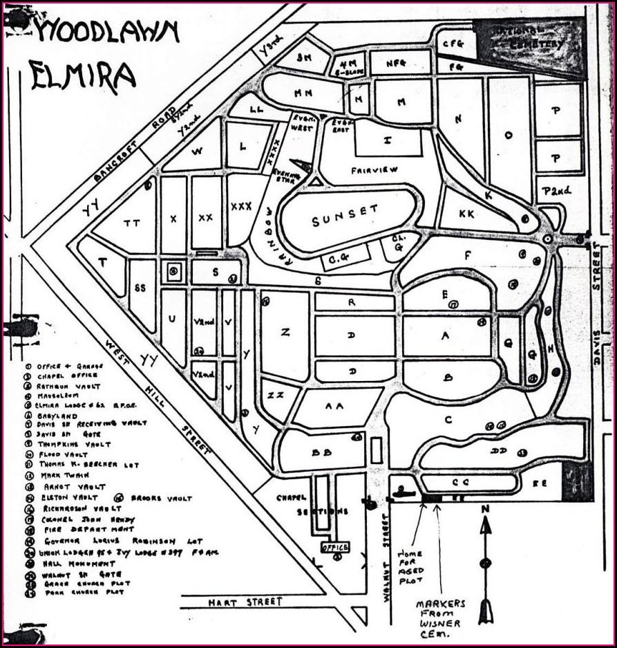Woodlawn Cemetery Plot Map