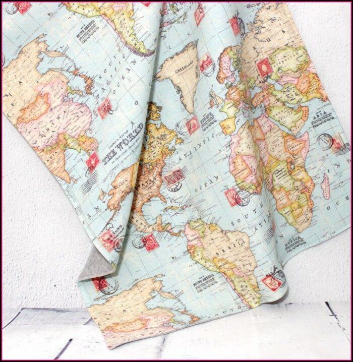 World Map Baby Blanket