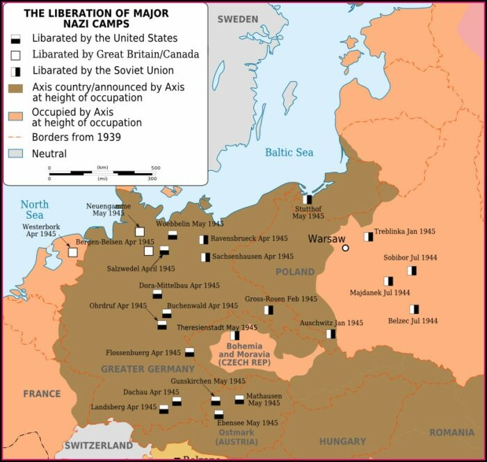 Ww2 Concentration Camps In Germany Map