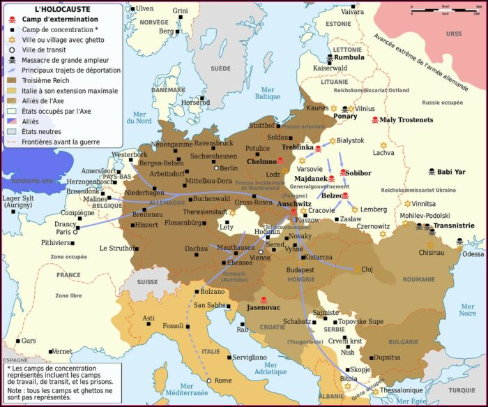 Ww2 Concentration Camps Map