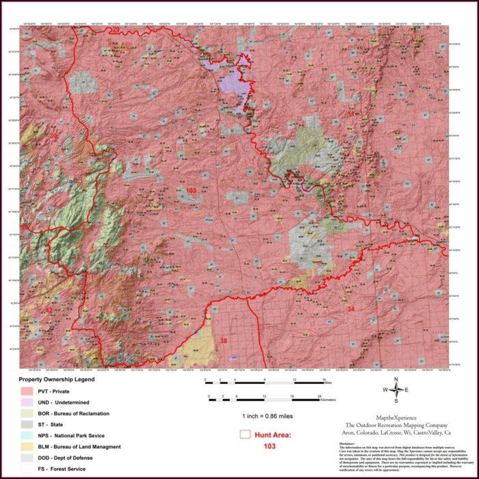 Wyoming Antelope Area Map