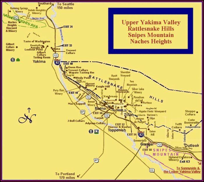 Yakima Valley Wineries Map