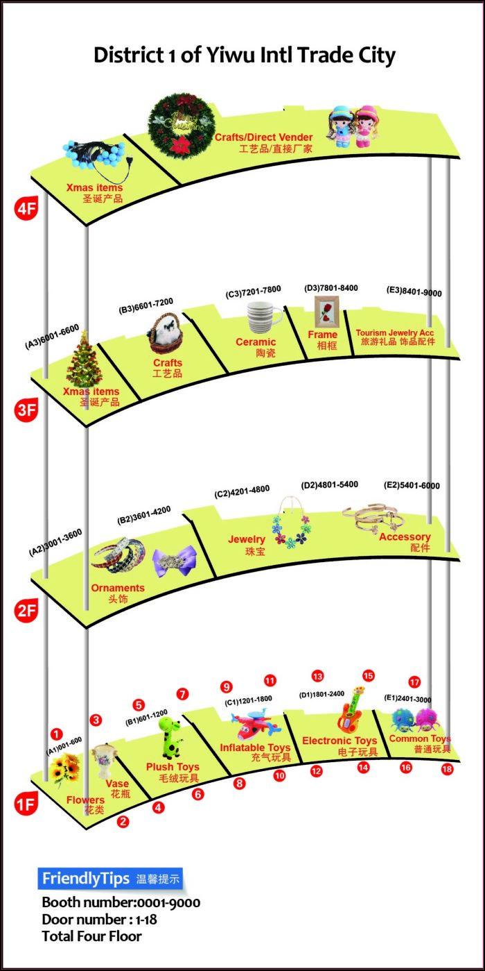 Yiwu International Trade Market Map