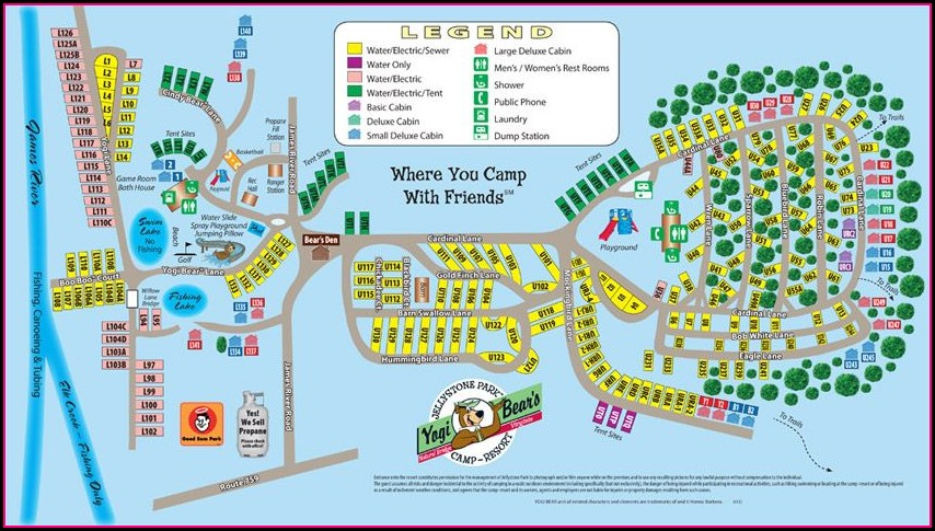 Yogi Bear Campground Md Map
