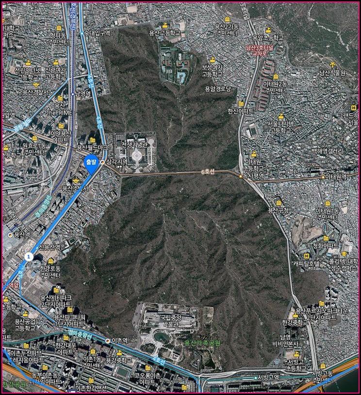 Yongsan Army Base Map