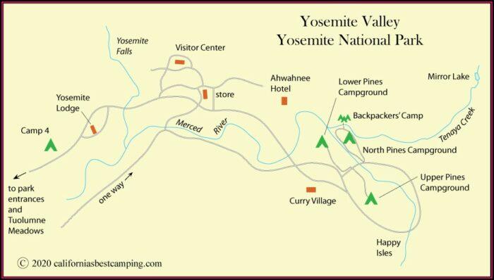 Yosemite Valley Hotels Map