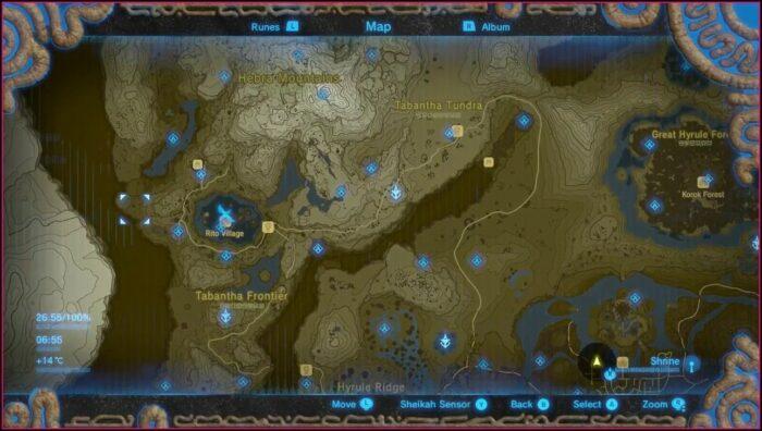 Zelda Switch Map Of Shrines