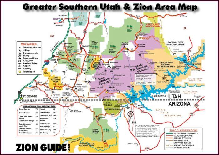 Zion Hiking Map Pdf