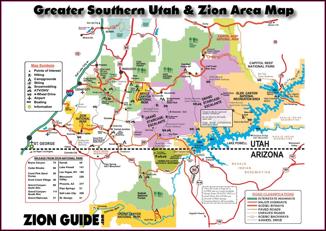 Zion Hiking Map Pdf