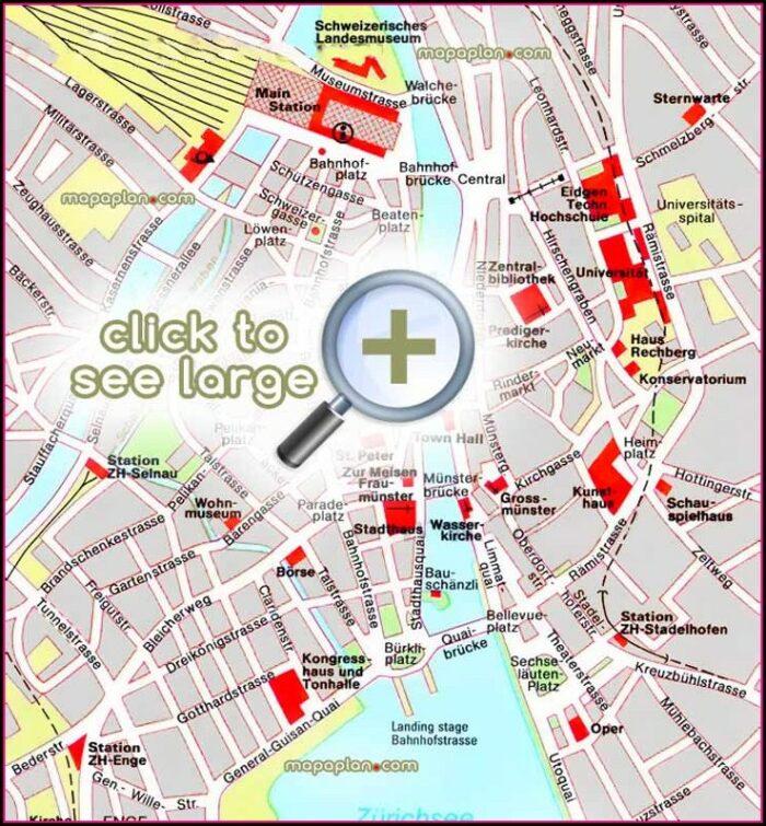 Zurich Old Town Walking Map