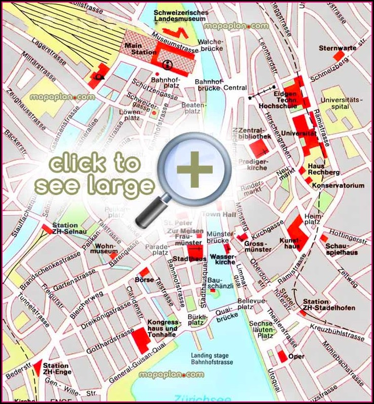 Zurich Old Town Walking Map