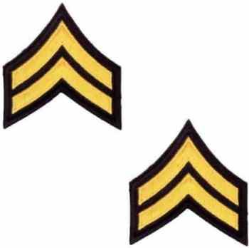Corporal Chevron- Gold and Black