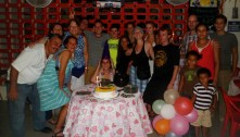 Surprise party for Celeste - fireworks included.