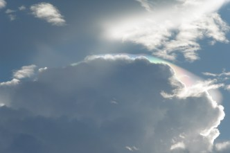 I'd never seen one of these little cloud rainbows before!
