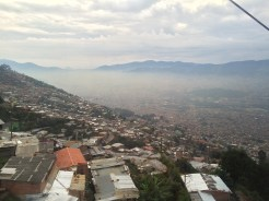 Admirably, Medellín even offers public transportation into the mountains - View from the Metro Cable