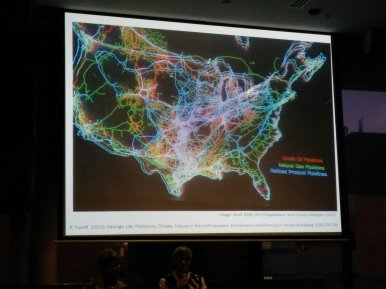 "Still from Kathrn Yusoff's talk ""Towards the idea of a Black Anthropocene"""