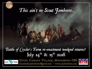 The Friends of Crysler's Farm Battlefield @ Upper Canada Village |  |  |