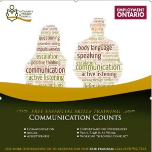 FREE New Training: Communication Counts @ 101 2nd Street West |  |  |