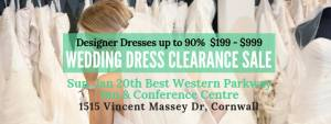 Cornwall Pop Up Wedding Dress Sale @ Best Western Parkway Inn & Conference Centre