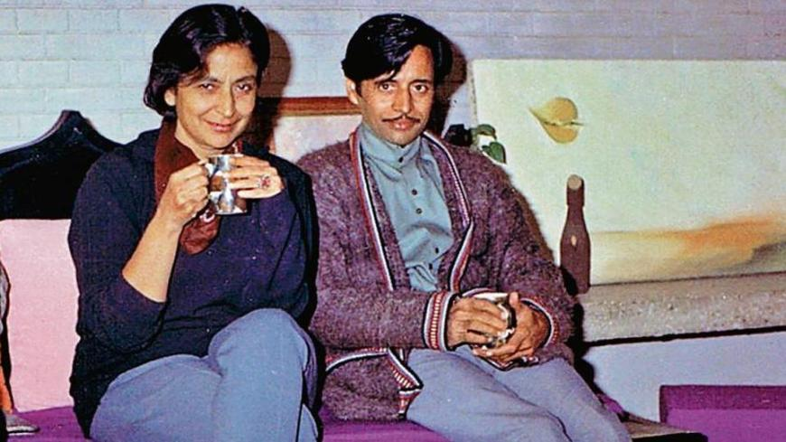 A rare photograph of Amrita Pritam and her partner, Imroz, in 1969.(Photo by Ravinder Ravi )