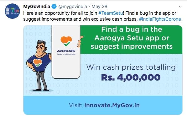Aarogya Setu - Bug Bounty