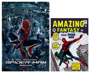 spiderman posters and comic