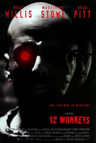 Twelve Monkeys, Bruce Willis, Brad Pit, movie poster, movie trailer, these fantastic worlds